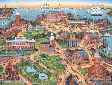 Ilustración histórica de Boston