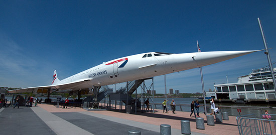 Foto del Concorde de British Airways del Intrepid Museum de Nueva York