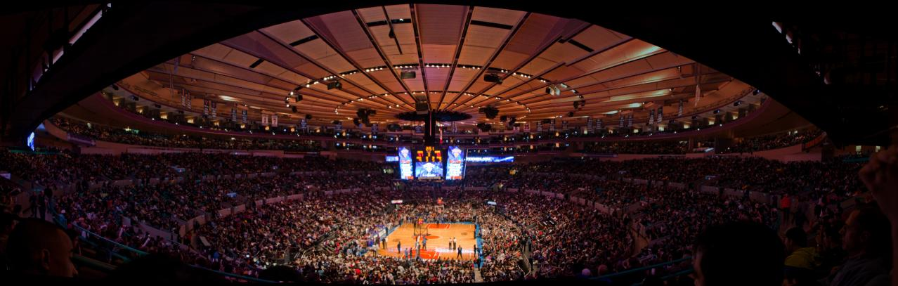 Foto interior del Madison Square Garden de Nueva York