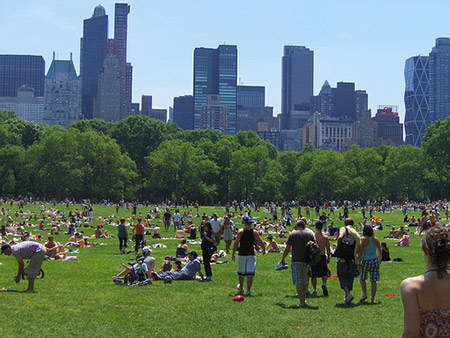 Foto de Sheep Meadow de Central Park de Nueva York