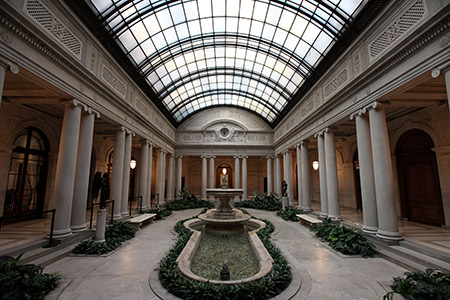 Foto del interior del museo The Frick Collection de Nueva York