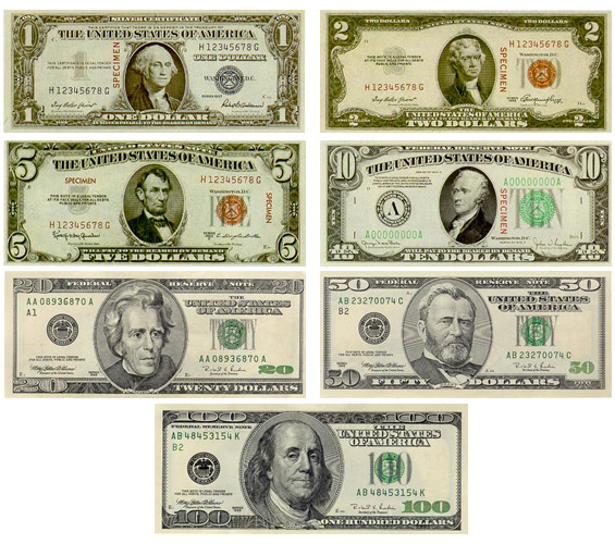 Billetes de dolar
