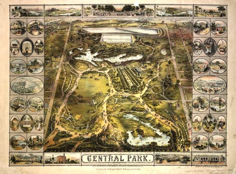 Mapa de Central Park de 1863