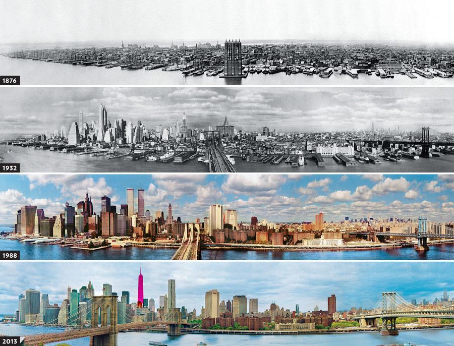 Evolución de la ciudad de Nueva York en fotos