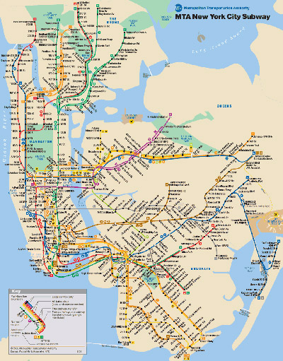 Mapa Metro de Nueva York para imprimir