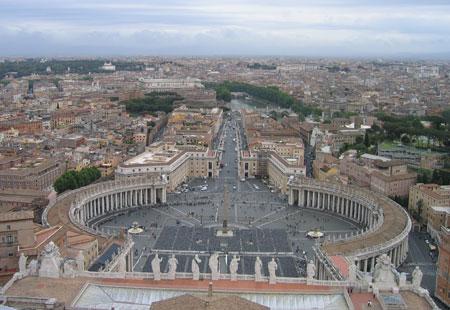 Viajes visita a los monumentos del vaticano plaza de - Arquitectura miguel angel ...