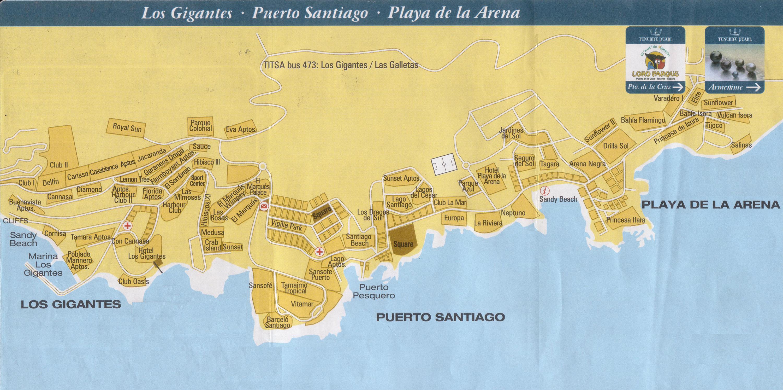 Daniel prado blog - Puerto santiago tenerife mapa ...