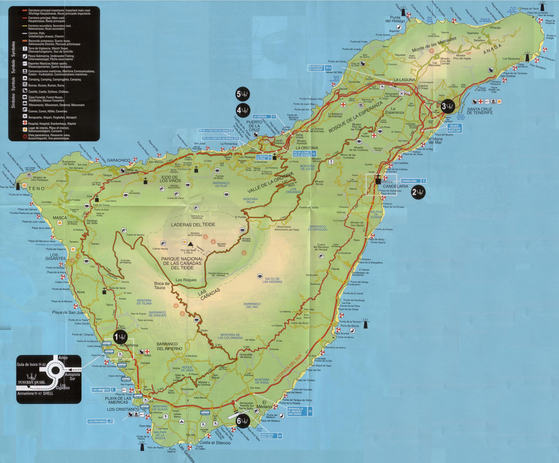 Viajes mapa tur stico de la isla de tenerife y las - Guia de tenerife pdf ...