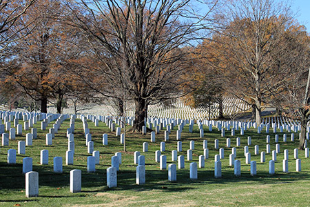 foto del cementerio Arlington en Washington DC