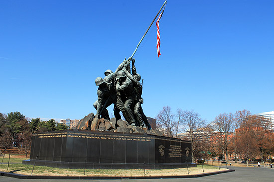 Monumento de Iwo Jima en Washington DC (Marine Corps War Memorial)